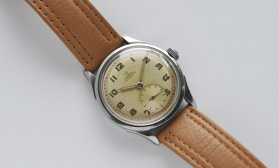 Omega 2375-1 1944 Two Tone Dial Bumper Automatic Serviced