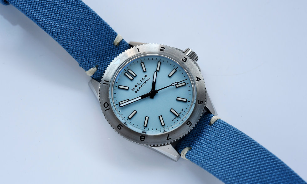 Halios Seaforth Gen 3 Diver Blue Dial with Pouch and Band