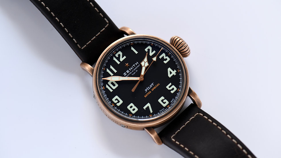 Zenith Type 20 Bronze Pilot Extra Special Box Papers