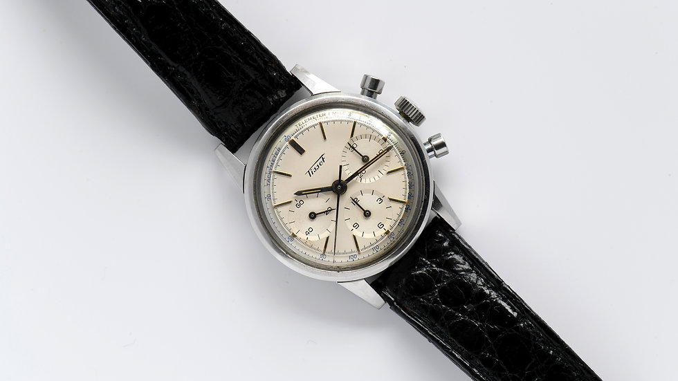 Tissot Chronograph Stainless Steel 33mm Cal 1281 Ref 808A 1964