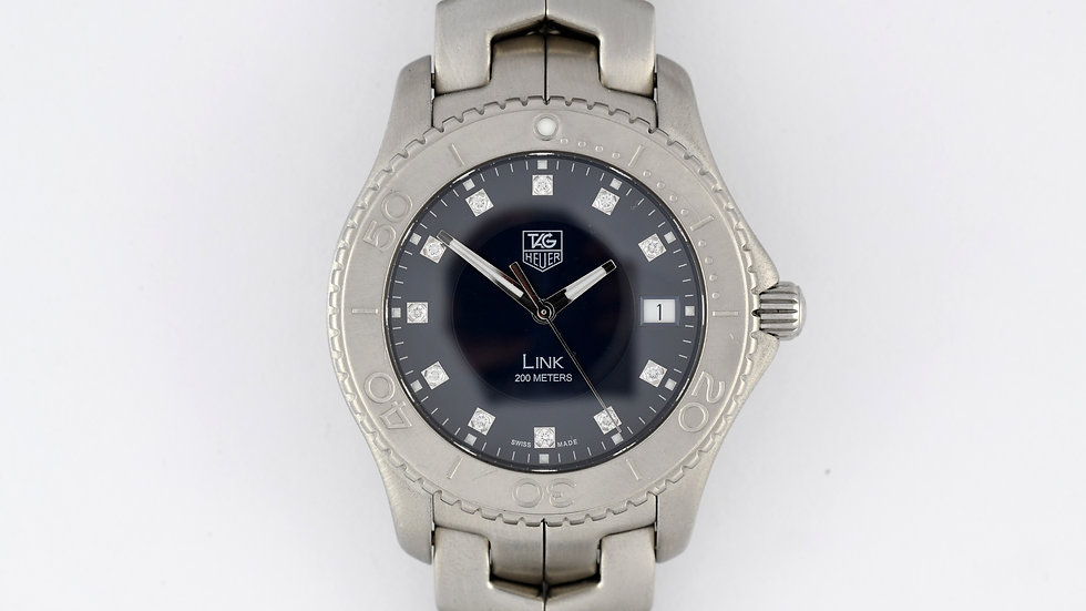 Tag Heuer Link WJ111A Black Diamond Dial