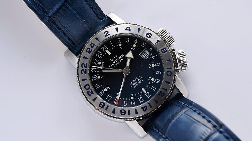 Glycine Airman Blue Dial 18 GL0222 Box Papers