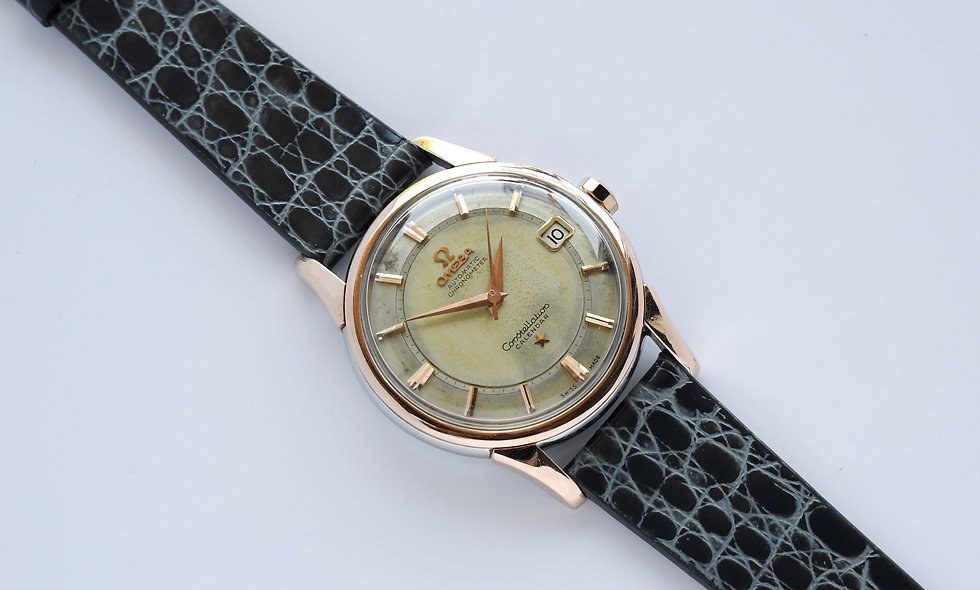 Omega Constellation Calendar Pie Pan Dial Rose Gold Top 14393-9 SC 1959