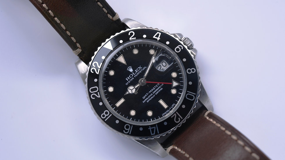 Rolex Gmt Master 16750 1984 Transitional Spider Dial