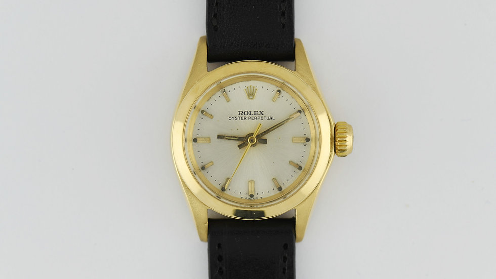 Ladies Rolex Oyster Perpetual 6618 18k Gold Serviced