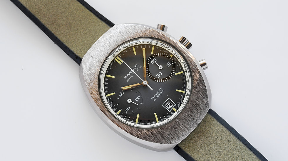 Sandoz Waltham Big Eye Chronograph Val 7734
