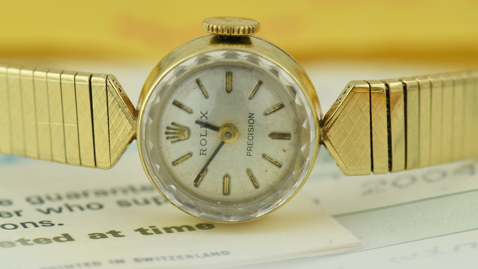 Rolex Precision Ladie's 1970 14k Gold Made In France