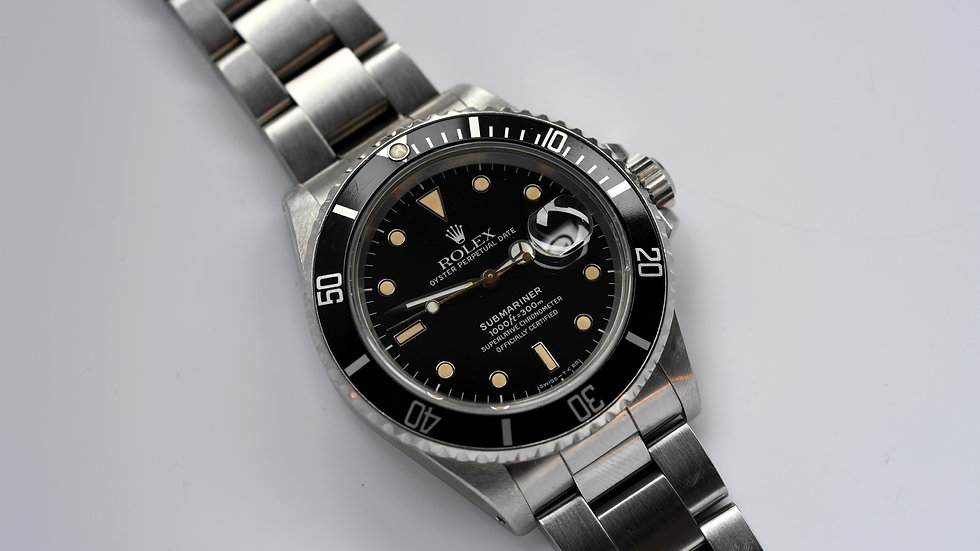 Rolex Submariner Stainless Steel 16800 Aged Tritium 1987