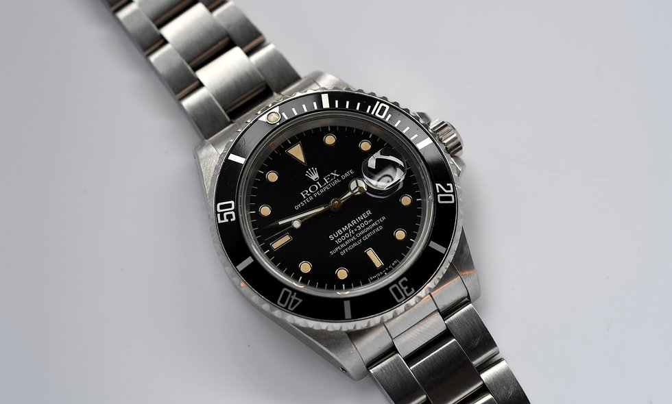 Rolex Submariner Stainless Steel 16800 Aged Tritium 1987