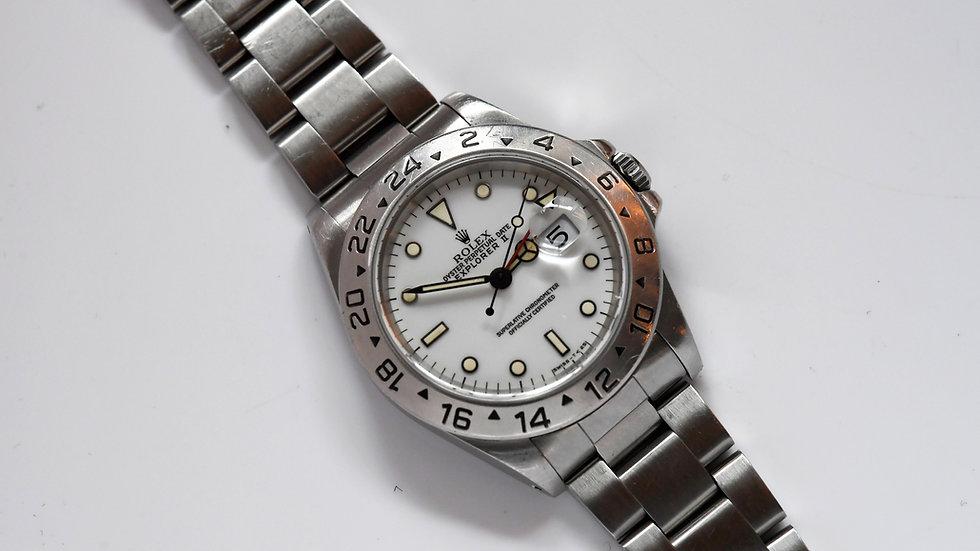 Rolex Explorer 2 Polar White Tritium Dial 1997 40mm with Papers