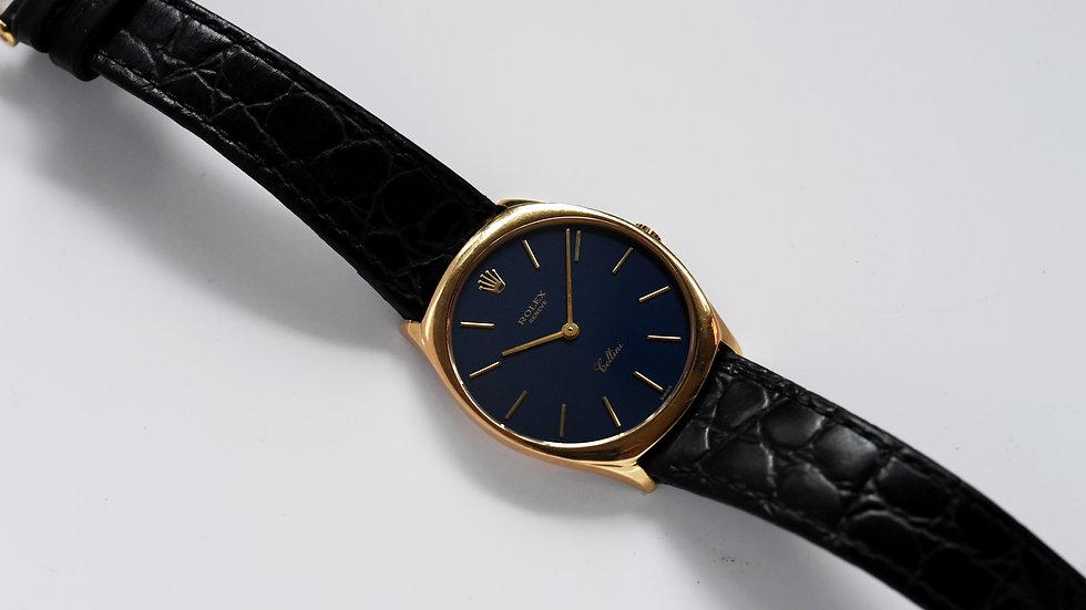 Rolex Cellini 4133 18k Gold 31mm Blue Dial 1991