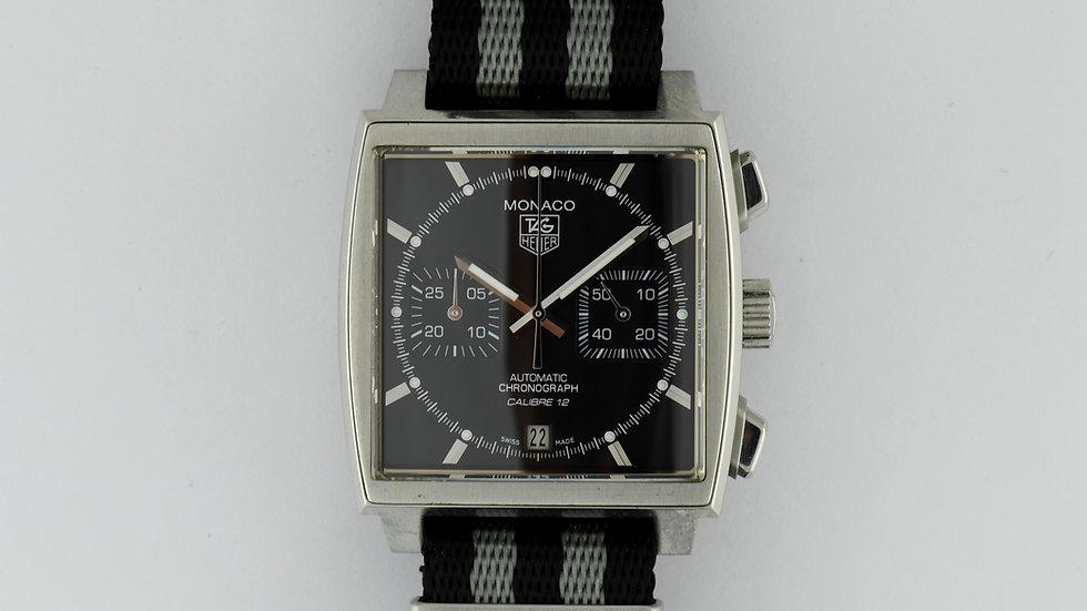 Tag Heuer Monaco CAW2110 Chronograph Black Dial