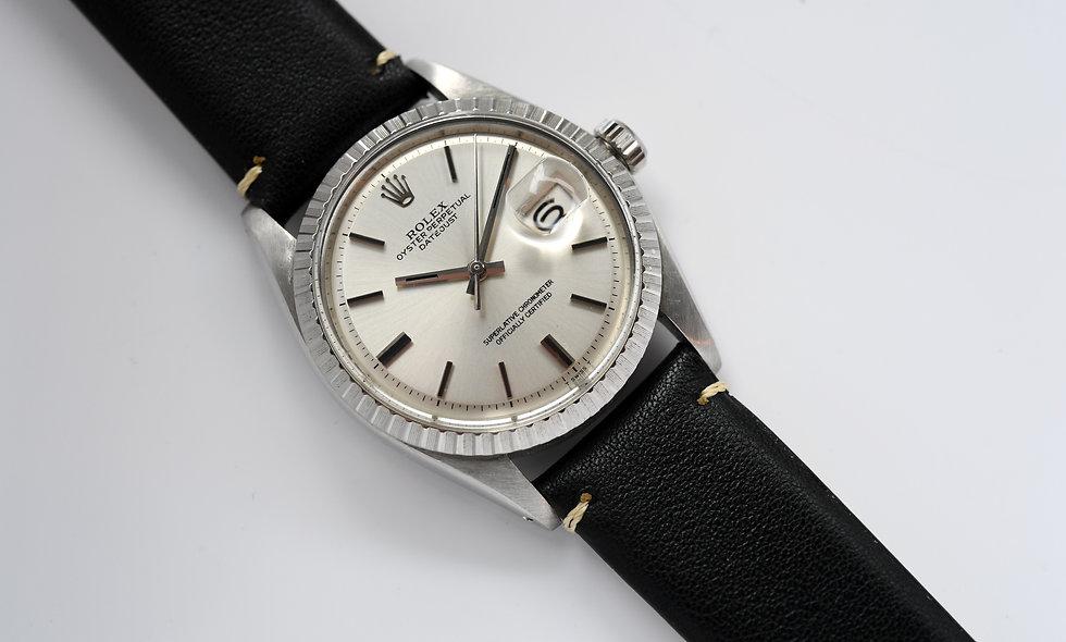 Rolex Datejust 1603 Non Luminous Pie Pan Engine Turned Bezel 1977