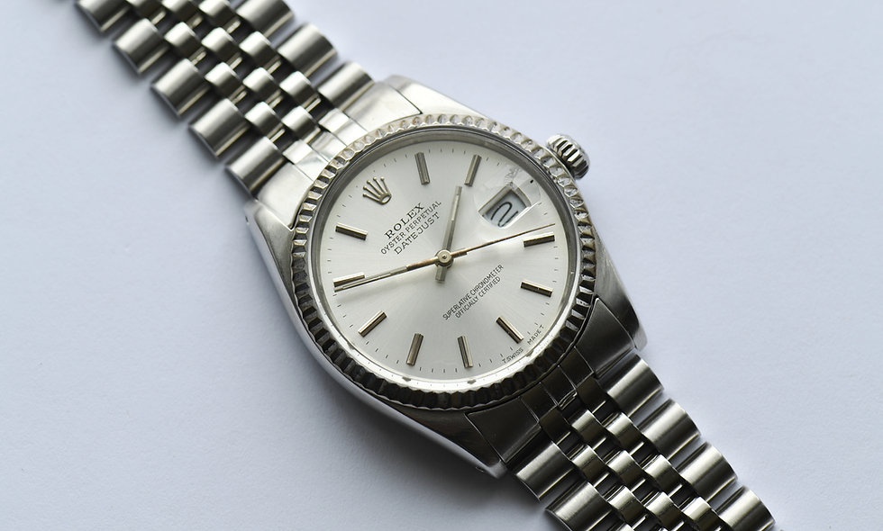 Rolex Datejust 16014 Fluted Bezel Silver Dial