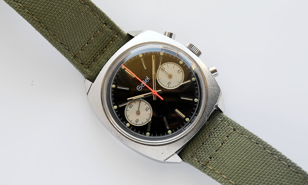 Gallet Reverse Panda Glossy Dial Chronograph Val 7733