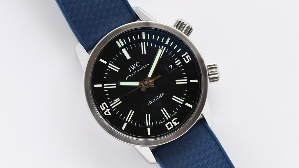 IWC Schaffhausen Vintage Aquatimer Blue Rubber 44mm