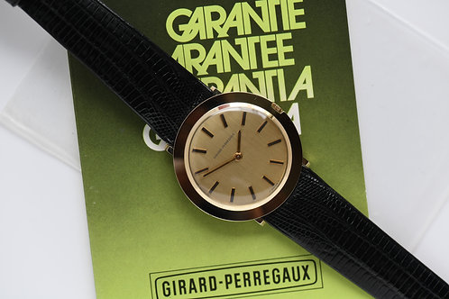 Girard Perregaux 14k Gold 33mm Ultra Thin Blank Papers NOS