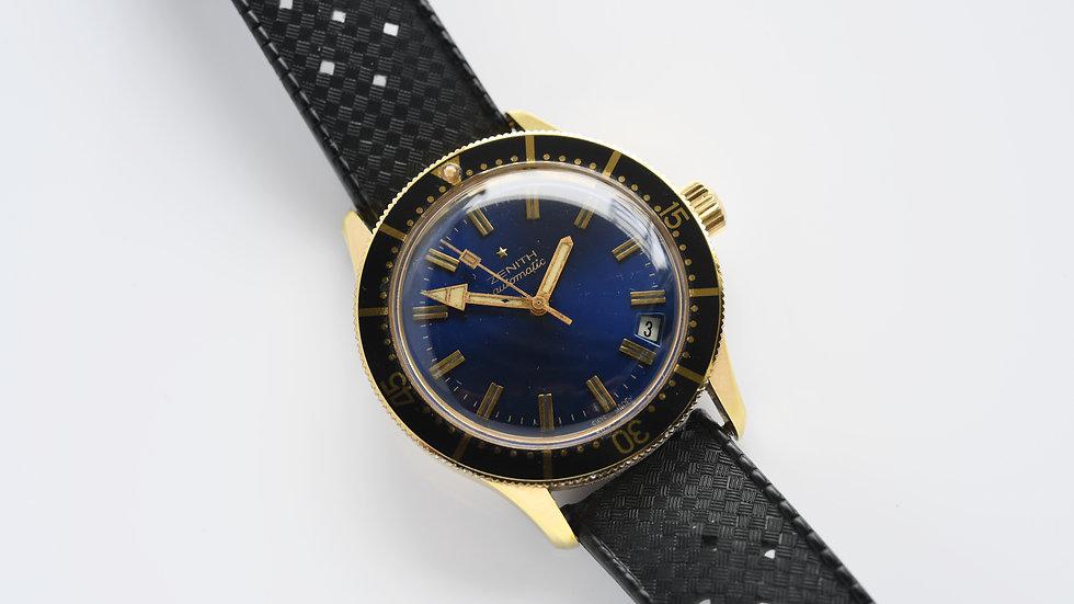 Vintage Zenith Blue Dial Diver P3632 Unpolished