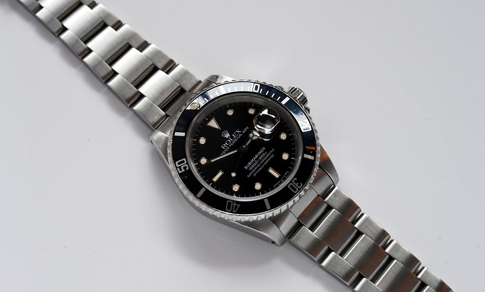 Rolex Submariner Stainless Steel 16610 Tritium 1989 Serviced