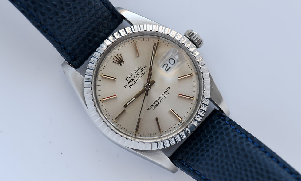 Rolex Datejust 16030 1984 Engine Turned Bezel Stainless Steel