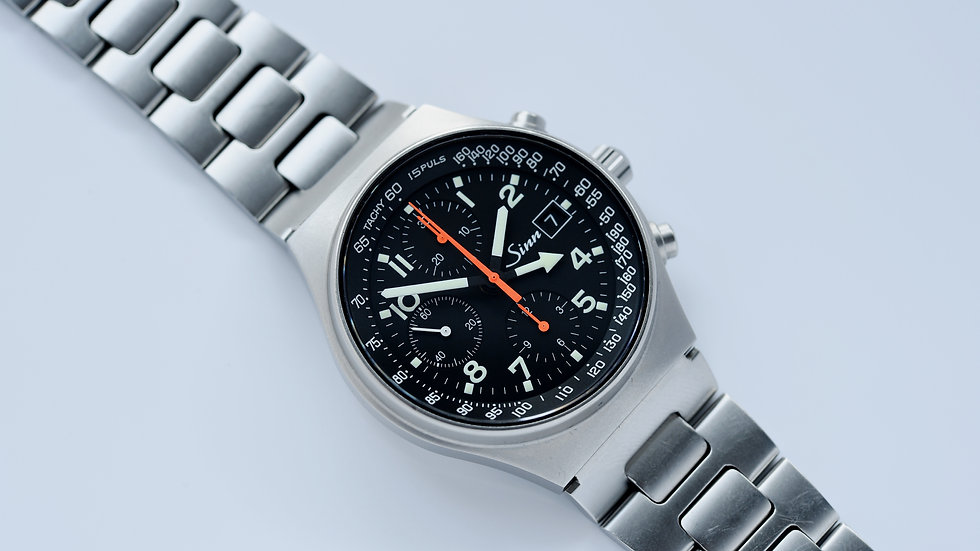 Sinn 144 World Time Automatic Aviator Steel GMT Chronograph Full Set