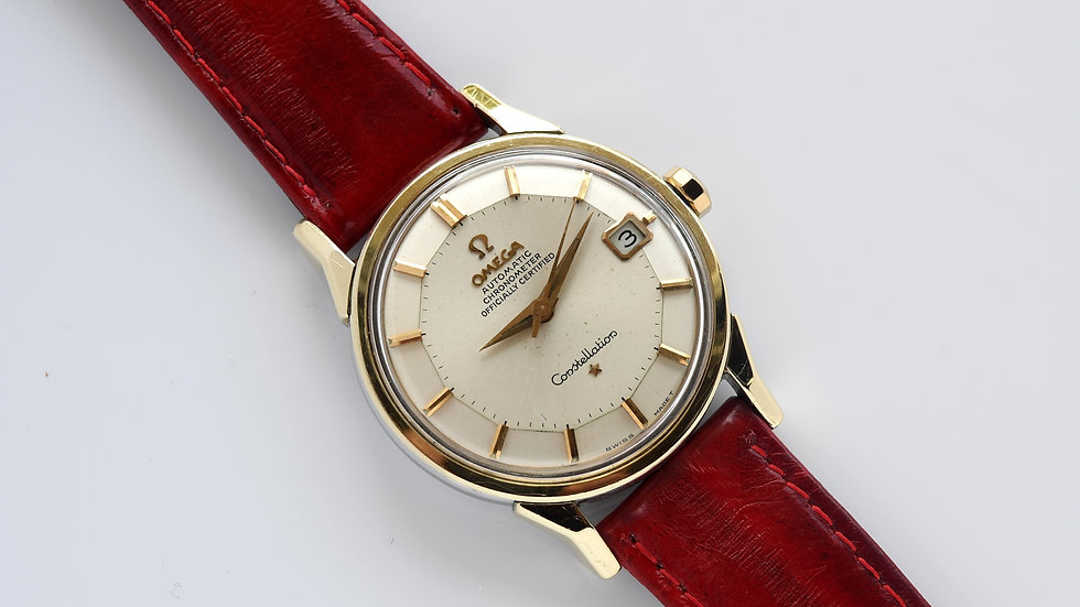 Omega Constellation Pie Pan 168.005 1966 Gold Capped