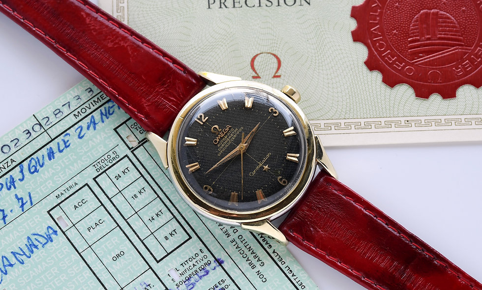 Omega Constellation Gilt Honeycomb Dial 2852-6 SC 1956