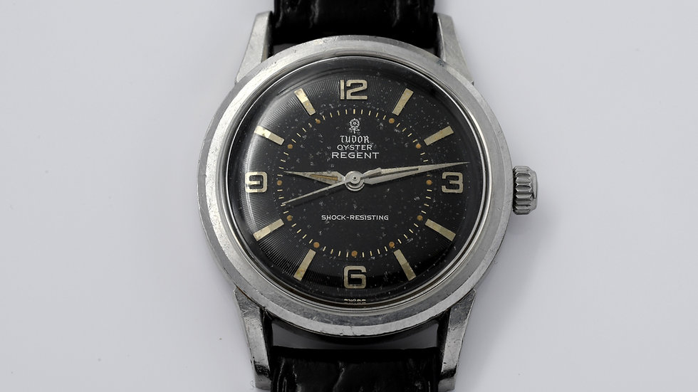 Tudor Oyster Regent 7959 Black Silver Gilt Dial 1950's