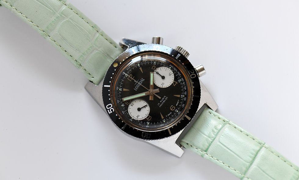 Loridal Two Register Chronograph Serviced