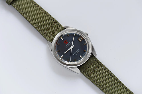 Omega Chronometer F300Hz Blue Dial Serviced at Swatch Group