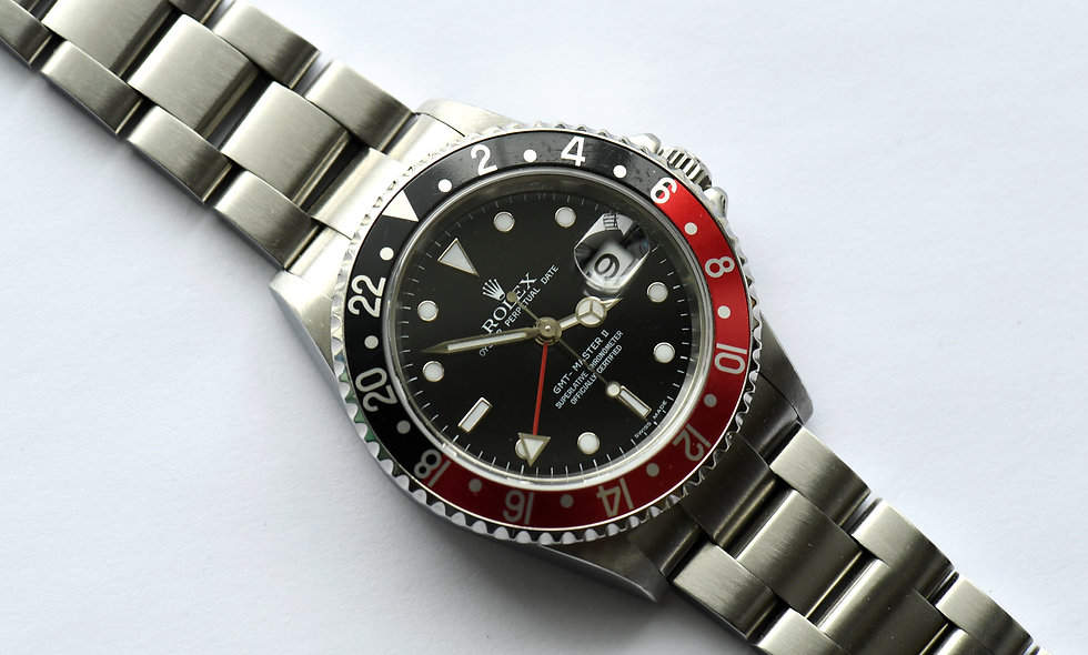 Rolex GMT II 16710 2007 Coke Rectangular Dial  Box Service Papers