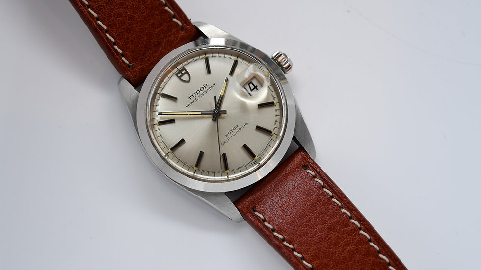 Tudor Prince Oysterdate 9050/0 1969 Silver Shield Dial ETA 2784 Box Papers