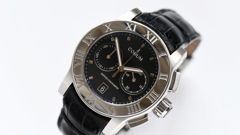 Corum Romulus Romvlvs 02.0012 Chronograph Black Dial Limited Edition