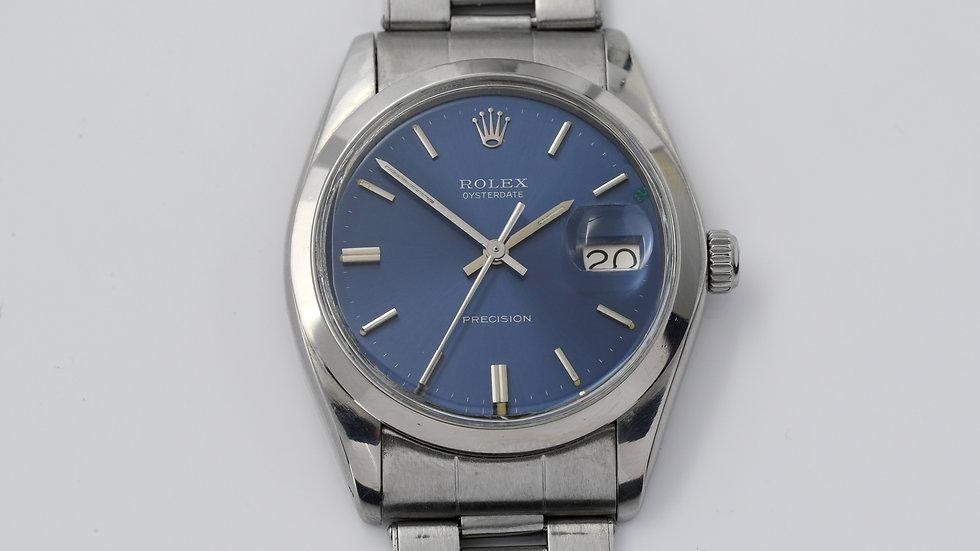 Rolex Oysterdate Precision 6694 Blue Dial 1975