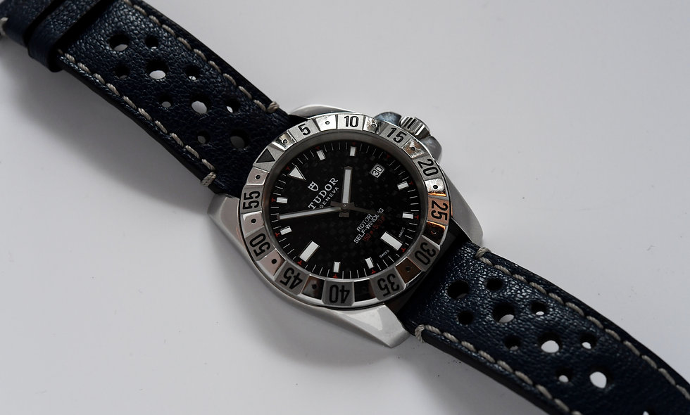 Tudor Hydraunaut II 20020 with Combat Strap Rolex Service 2019 Box Papers