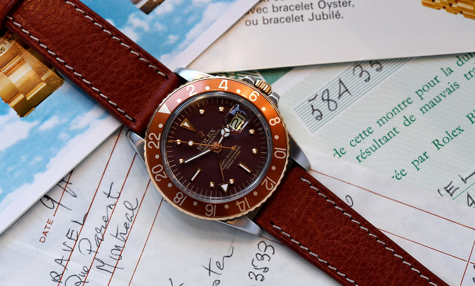 Rolex GMT Master 1675F 1978 Matte Rootbeer with Bill Papers and Manuals