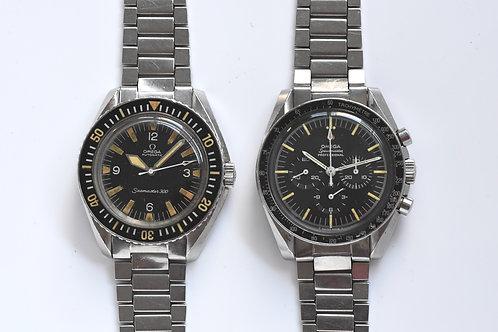 Omega Speedmaster 105.012-66 and Omega Seamaster 300 165.024 ( COMBO SET )