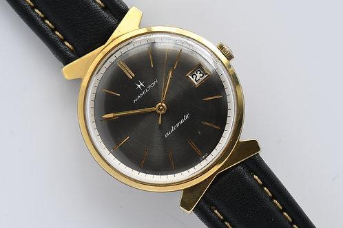 Hamilton Tempus Rare Gray Dial Gold Plated Automatic