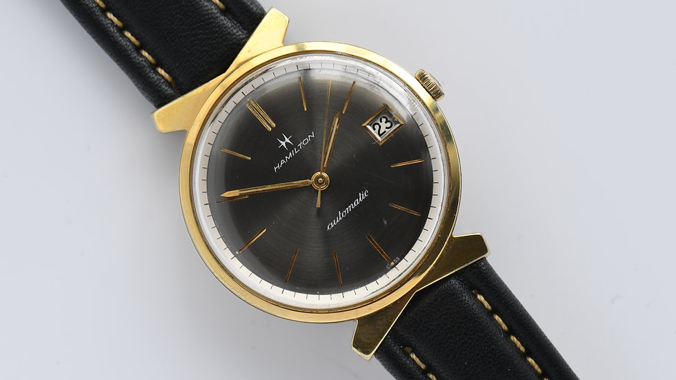 Hamilton Tempus Rare Gray Dial Gold Plated Automatic
