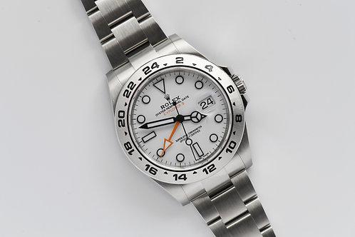Rolex Explorer II 42mm 216570 Polar White Dial 2018 Full Set