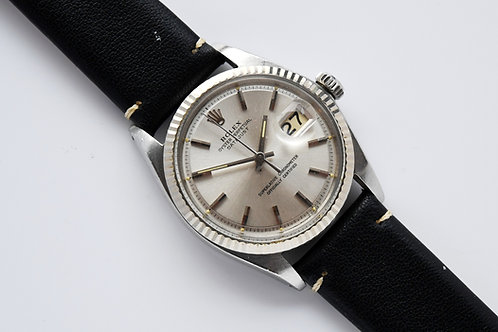 Rolex Datejust Piepan Silver Dial 1601 1968 Unpolished