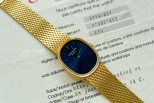 Patek Philippe Ellipse 3748 Blue Dial with Papers