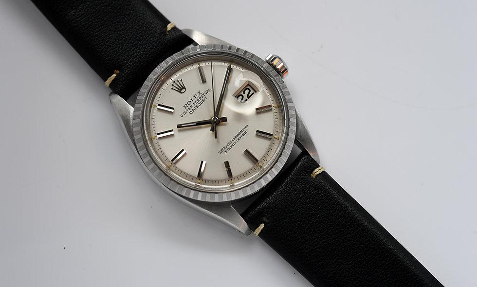 Rolex Datejust 1603 Silver Pie Pan Engine Turned Bezel 1971