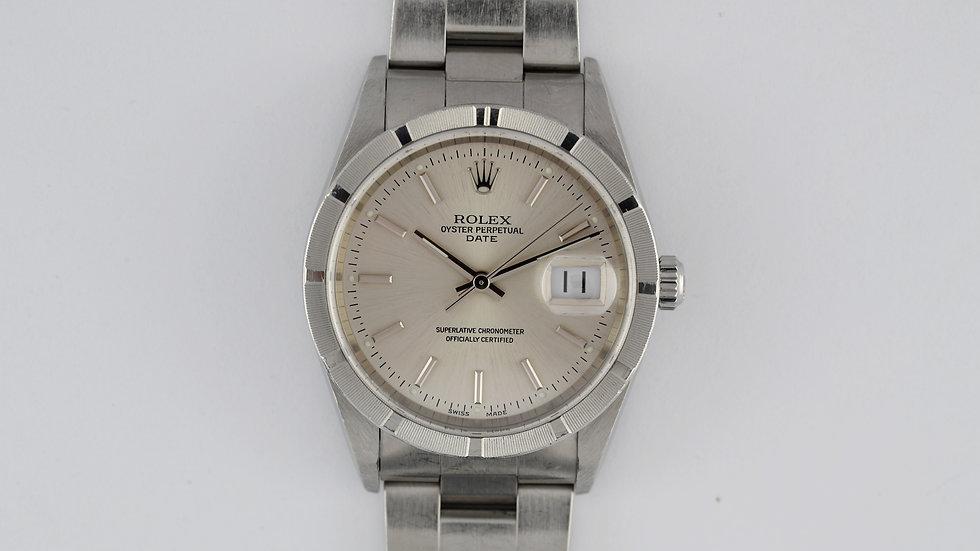 Rolex Date 15210 Stainless Steel Turned Bezel Luminova Dial