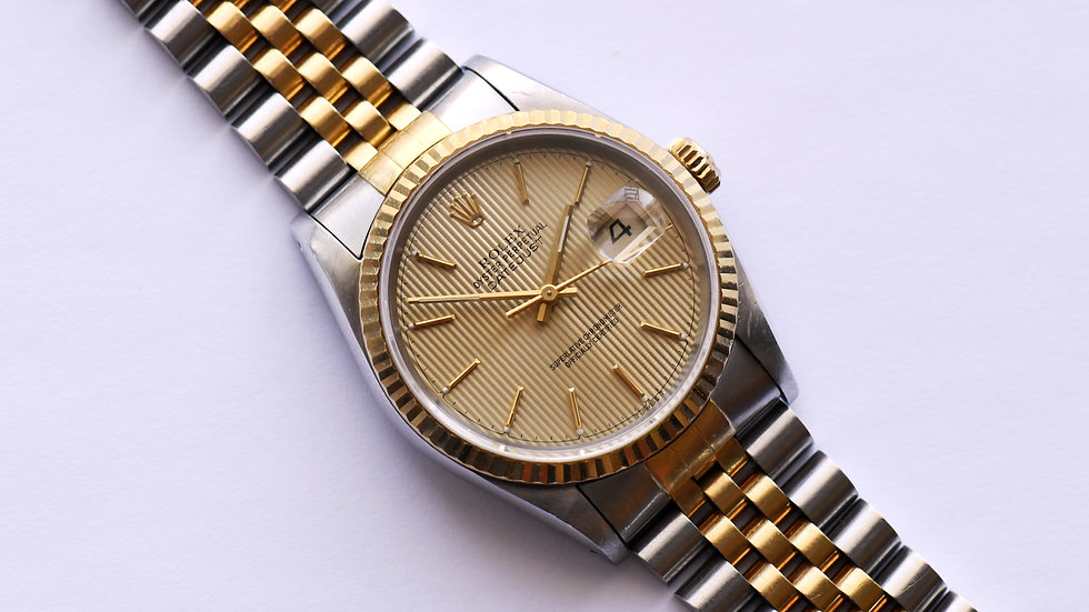 Rolex Datejust 16233 Tapestry Dial Unpolished Box