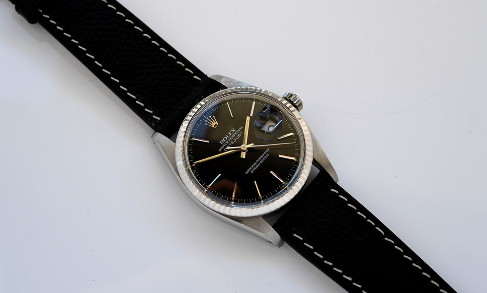 Rolex Datejust 16014 Glossy Black Dial 1984