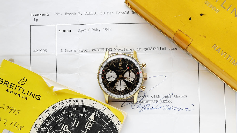 Breitling Navitimer 806 Chronograph 1968 Box and Papers