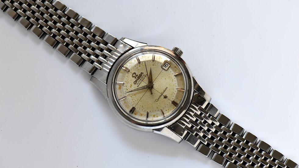 Omega Constellation Pie Pan 14393-9 1961 Unpolished Serviced
