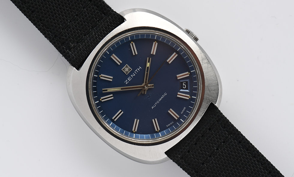 Zenith Automatic Blue Dial 1960's 39.5mm Cal 2572PC