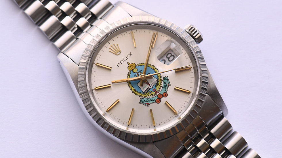 Rolex Datejust 16030 King Khalid Military Academy 1984